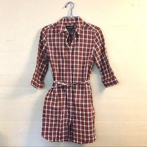 Steven Alan for Barneys NY - Red Plaid Tunic Dress